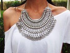 Womans Sahara Antalya coin statement Necklace Gypsy Boho Festival + Gift Bag ❤️
