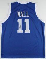 Autographed/Signed JOHN WALL Houston Light Blue Basketball Jersey JSA COA Auto