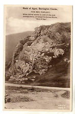 Rock of Ages - Burrington Combe Photo Postcard c1920