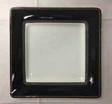 "ROYAL DOULTON SILVER SONNET BLACK SQUARE ACCENT PLATE 8.75"" BONE CHINA BRAND NEW"