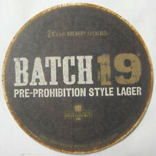 BATCH 19 PRE-PROHIBITION LAGER Beer COASTER, Mat, Coors, COLORADO (c) 2012 issue