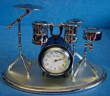 WILLIAM WIDDOP MODEL DRUM KIT CLOCK WITH SNARE, BASS, TOM TOM HI-HAT CYMBAL 9078