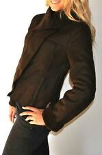 New Womens Romeo & Juliet Couture Gossip Girl Faux Shearling Jacket Brown Medium