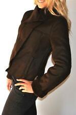 New Womens Romeo & Juliet Couture Gossip Girl Faux Shearling Jacket Brown Medium