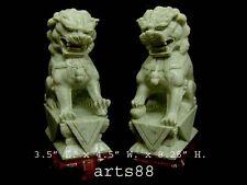 Chinese Green Jade Guardian Lion - Fu Lion - Temple Dog Impede Devil Spirit #2