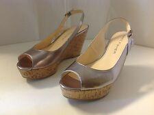 Marc Fisher Genoa New 11 M Shoes Silver Slingback Platform Open Toe Heel Women
