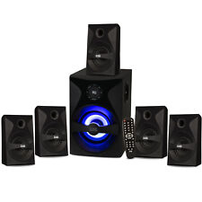Acoustic Audio Bluetooth 5.1 Speaker System with Sub Light & FM Home Theater Set