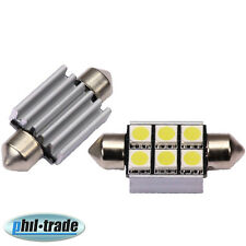 LED Soffitte Lampe C5W Canbus 36mm 12V 6x SMD Innen Beleuchtung o. Nach Glimmen