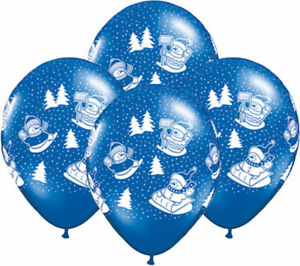 11' Snowmen - Christmas Helium Latex Balloons - Party Decorations x 22