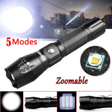 Tactical Police 5000LM Zoom XM-L T6 LED 5Modes Flashlight Aluminum Torch CA