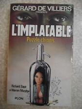 L'implacable 3 Puzzle chinois. 1977 Gérard De Villiers. R. SAPIR W. MURPHY