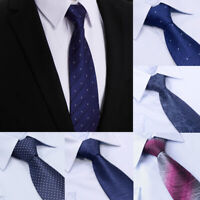 New Men Formal Business Neckties Silk Skinny Narrow Neck Tie Wedding Party Decor