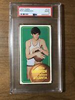 1970 Topps Basketball #123 Pete Maravich Atlanta RC Rookie HOF PSA 2 GOOD