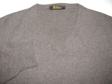 Loro Piana 100% Baby Cashmere V Neck Sweater Brown ITALY 50 Medium Large