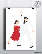 SATURDAY NIGHT FEVER - Minimalist Movie Poster by Posteritty Minimal Art Print