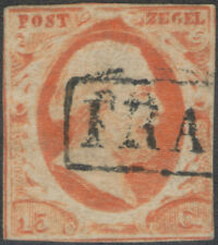1852 Netherlands general issue stamp S#3 Fine used/hinge TMM*