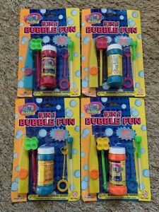 LOT of 4 BRAND NEW Sealed VINTAGE Miracle Bubbles 5 IN 1 BUBBLE FUN! Imperial