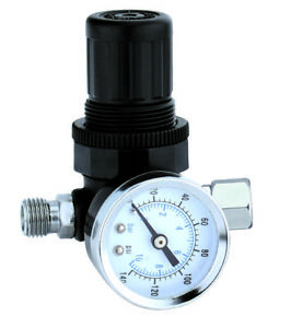 "New 1/4"" MINI REGULATOR W/ GAUGE FOR COMPRESSOR COMPRESSED AIR PRESSURE"