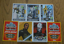 Rebel Attax Serie 1 * tutte le 128 carte base completamente TOPPS Star Wars * NUOVO