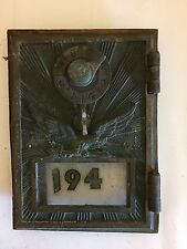 Antique US Soaring Eagle Post Office PO BOX Brass Door Combination Lock  Rays 01