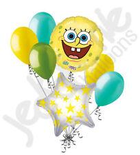 7 pc Spongebob Squarepants Smile Balloon Bouquet Happy Birthday Party Decoration