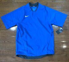 Mens Size Small Nike Baseball Short Sleeve Jacket Blue Solid AH9610-480