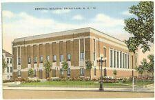Devils Lake ND - Memorial Building - linen postcard c1940's Kropp