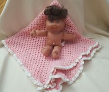 """1995 Cabbage Patch Baby Doll O.A.A. Inc 8""""  Mattel smaller doll pink blanket"""
