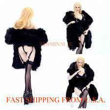 1/6 Lace Lingerie Corset Gartering Stockings Fur Wrap Set For Phicen Female USA