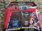Ninja Bots 1-Pack Hilarious Battling Robot Blue with 3 Weapons Trainer and Ov...