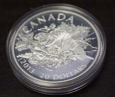 2013 Canada $20 dollars fine silver- The  Beaver