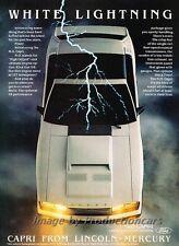 1982 Mercury Capri White Lightning Original Advertisement Print Art Car Ad J788