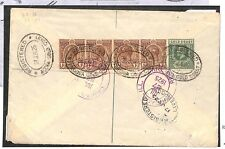 TT180 1925 Gold Coast Koforidua Montgomery Ward Registered Commercial Cover PTS