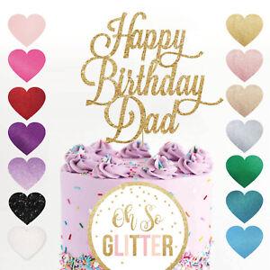 Custom Cake Topper Happy Birthday Dad Personalised Customised any word