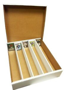 4 Max Pro Premium 5000 Card Cardboard Super Monster Card Storage Boxes - New