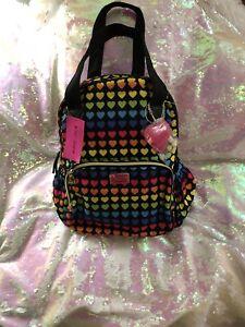 Betsey Johnson Rainbow Hearts Backpack NWT