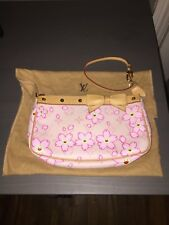 Authentic Louis Vuitton Cherry Blossom Taskahi Murakami Pochette MINT CONDITION!