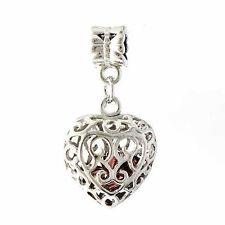 Heart crystal Pendant Or dangle heart Charm Bead for European bracelet Large