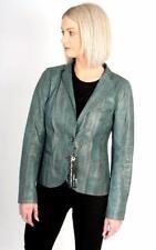 Ladies Santacroce Python Snakeskin Leather Jacket Brown IT44 UK10 US8 RRP £2995
