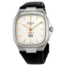 Glashutte Seventies Panorama Silver Dial Automatic Mens Watch 2-39-47-11-12-50