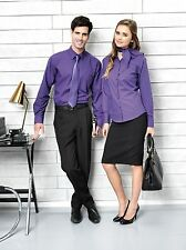 Women's Business Cotton Blend Hip Length No Pattern Tops & Shirts