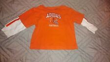 Adidas Boys Size 9 Months Long Sleeve T Shirt Football Orange Baby Boy