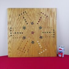 "22"" Wooden Oak Aggravation Game Board  2- 6 Players"