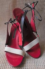 """Narciso Rodriguez Women Sandals 3.5"""" Heels Multi-Col Open Toes Size 36.5/ US 6.5"""