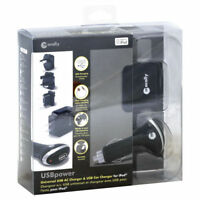 Macally Universal USB Power AC Adaptor and Vehicle USB Charger (Black)