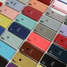 FUNDA PARA IPHONE XR X XS MAX 8 7 6S PLUS ORIGINAL CARCASAS DE SILICONA GENUINA