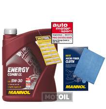 5 L Motoröl MANNOL Energy Combi 5W-30 + Gratis Microfaser Spezialreinigungstuch