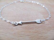Silver arrow bracelet, silver bracelet, sterling silver, simple bracelet, charm