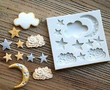 Star Moon Cloud Shape Silicone Mould DIY Fondant Cake Chocolate Mould