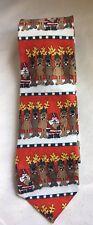 John Ashford Men's Christmas Football Santa Reindeer Tie Retail $39.50-NWT